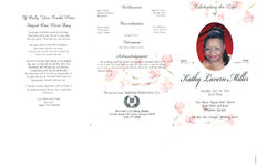Celebrating the life of Kathy Lavern Miller, Saturday, September 20, 2014, 12:00 noon, First Mount Pilgrim M.B. Church, 2496 Pebble Still Road, Whigham, Georgia, the Rev. Elex German, officiating pastor