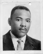 Mississippi State Sovereignty Commission photograph of James Meredith taken prior to his acceptance as the first African American student to attend the University of Mississippi, Kosciusko, Mississippi, 1961