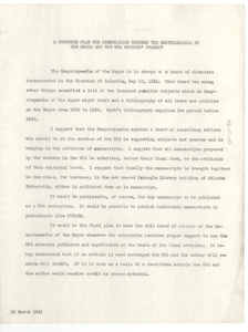 Proposed plan for cooperation between the encyclopedia of the Negro and the WPA Writers' Project
