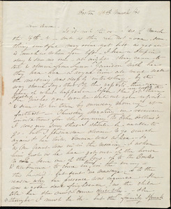 Letter from Caroline Weston, Boston, [Mass.], to Anne Warren Weston, 14th March /[18]40