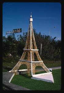 Eiffel Tower, Stewart Beach mini golf seawall, Galveston, Texas