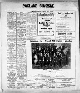 Oakland Sunshine (Oakland, Calif.), Ed. 1 Saturday, March 27, 1915 Oakland Sunshine