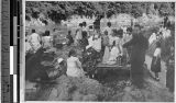 Fr. John E. Morris, MM, at picnic with Christians, Kyoto, Japan, 1941