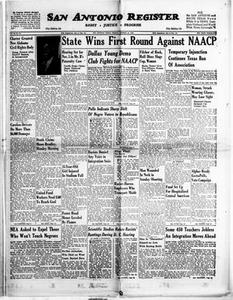 San Antonio Register (San Antonio, Tex.), Vol. 26, No. 37, Ed. 1 Friday, October 26, 1956 San Antonio Register