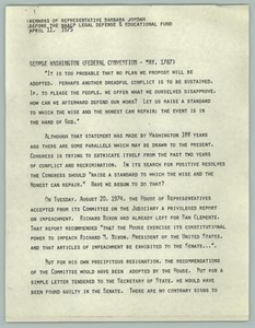 Remarks of Representative Barbara Jordan Before the NAACP Legal Defense & Educational Fund Texas Senate Papers