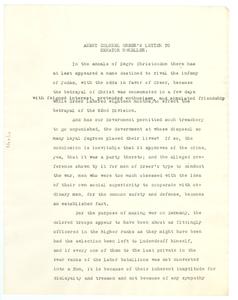 Agent Colonel Greer's letter to Senator McKeller