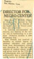 Director for Negro center; Register (Des Moines, Iowa); Women's military activity