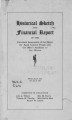 Historical Sketch and Financial Report of the Cleveland Association of the Home for Aged Colored People and the Men's Auxiliary to the Home, from July 1893 to July 1908