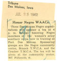 Honor Negro WAACs; Tribune (Des Moines, Iowa); Women's military activity