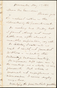 Letter from Aaron Macy Powell, Worcester, [Mass.], to William Lloyd Garrison, May 17, 1864