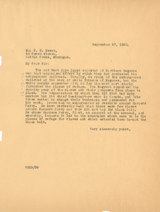 Letter from W. E. B. Du Bois to Forest H. Sweet