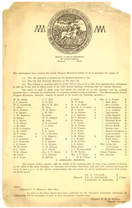 Niagara Movement 1907 Election Results