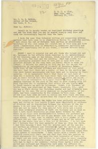 Letter from H. O. Abbott to W.E.B. Du Bois
