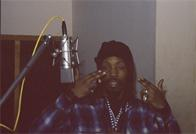 DJ Power recording a commercial for Funkmaster Flex, D&D Studios