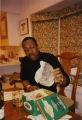 George Faison eating