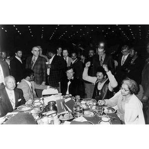 Hugh Hefner (with Jesse Jackson and Rosa Parks)