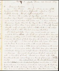 Letter from Theodore Parker, Santa Cruz, [California], to Francis Jackson, 1859 March 21