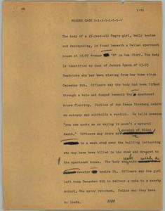 [News Script: Murder case] NBC News Scripts