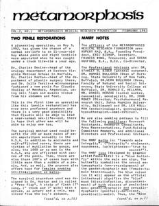 Metamorphosis, Vol. 2 No. 1 (February 1983)