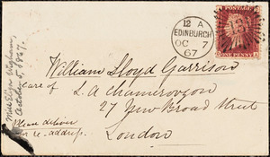 Letter from Eliza Wigham, 5 Gray Street, Edinburgh, [Scotland], to William Lloyd Garrison, 1867 [October] 5