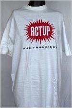 ACT UP San Francisco [t-shirt], circa 1980s