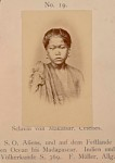Portrait of Young Slave Girl from Makassar, Celebes Island, In Costume and with Ornaments n.d