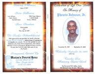 Celebration of life over death, in memory of Phearis Johnson, Jr., Wednesday, September 29, 2004, 2:00 p.m., Travelers Rest Missionary Baptist Church, the Reverend H.B. Jeffery, pastor, the Reverend John Wooden, officiating