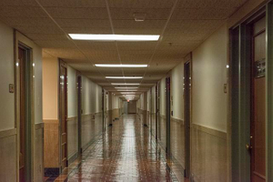 Hallway. Potter Stewart U.S. Post Office and Courthouse, Cincinnati, Ohio