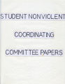 Zinn--Student Nonviolent Coordinating Committee papers, administration, 1963-1965 (Howard Zinn papers, 1956-1994; Archives Main Stacks, Mss 588, Box 2, Folder 11)