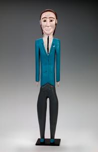 Man in Blue Suit
