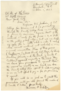 Letter from Neuman I. White to Editor of the Crisis