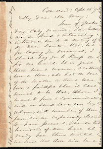 Letter from Alfred Porter Putnam, Concord, [Mass.], to Samuel May, April 15, '93