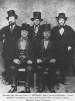 Martinius Mathiesen Ager and his brothers in 1874
