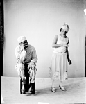 Stump [or Stumpy? Stumpie?] and Stello [man and woman, male figure seated] [acetate (or nitrate?) film photonegative, 1930s.]