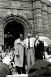St. Louis Comptroller Virvus Jones, East St. Louis Mayor Gordon Bush, and Freeman Bosley Jr. at Bosley's swearing in ceremony as the first African American mayor of St. Louis, 20 April 1993