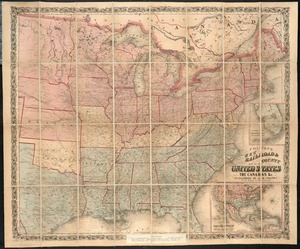 Colton's new railroad & county map of the United States, the Canadas &c