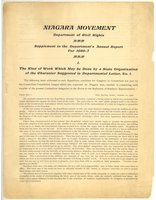 Niagara Movement Department of Civil Rights, supplement to the department's annual report for 1906-7