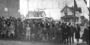 Congregation in front of Pilgrim Baptist Church on opening day, 732 West Central, St. Paul