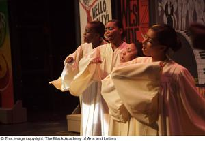 [Singer in white robes] Hip Hop Broadway: The Musical