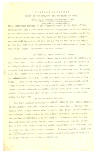 Report of G. W. Mitchell to Niagara Movement