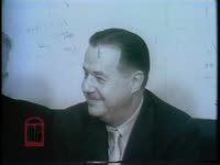 WSB-TV newsfilm clip of an interview with Senators Hugh Scott of Pennsylvania and Ken Keating of New York early in a Southern-led filibuster against proposed Civil Rights legislation in Washington, D.C., 1960 February 29
