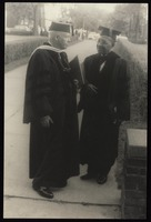Carl Van Vechten with Dr. Charles S. Johnson of Fisk University, Nashville, Tennessee.