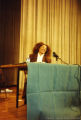 Terry McMillan speaking at a conference