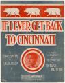 If I Ever Get Back to Cincinnati