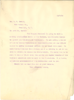 Letter from W. E. B. Du Bois to E. B. Ceruti