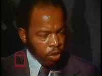 WSB-TV newsfilm clip of African Americans reacting to a speech by mayor Sam Massell, Atlanta, Georgia, 1971 October 6