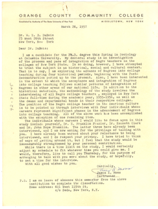 Letter from James A. Moss to W. E. B. Du Bois