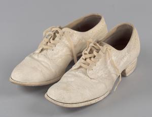 Pair of nurse's shoes worn by Pauline Brown Payne