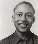Bedford Pinkard in Wilson Junior High School, Oxnard : 1945 ; a resident of Ventura County since 1942, Bedford Pinkard was installed as the first African-American elected to the Oxnard City Council in November 1992