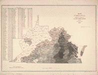 Map of Virginia : showing the distribution of its slave population from the census of 1860